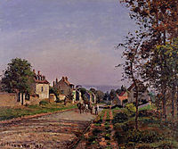 Outskirts of Louveciennes, 1871, pissarro
