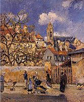 The Park in Charrettes, Pontoise, 1878, pissarro