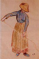Peasant with a Pitchfork, c.1901, pissarro