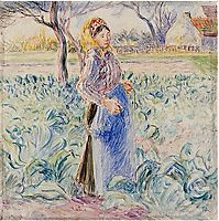 Peasant Woman in a Cabbage Patch, c.1885, pissarro