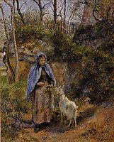 Peasant Woman with a Goat, 1881, pissarro
