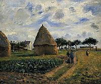 Peasants and Hay Stacks, 1878, pissarro