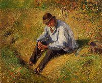 Pere Melon Resting, 1879, pissarro