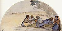 The Picnic, c.1891, pissarro