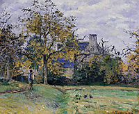 Piette-s Home on Montfoucault, 1874, pissarro