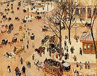 Place du Theatre Francais, 1898, pissarro