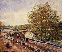 The Pont Royal, Grey Weather, Afternoon, Spring, 1902, pissarro