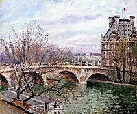 The Pont Royal and the Pavillion de Flore, pissarro