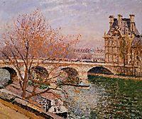 The Pont Royal and the Pavillion de Flore, 1903, pissarro