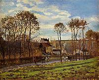 Pontoise, Les Mathurins, 1873, pissarro