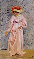 Portrait of Jeanne in a Pink Robe, c.1897, pissarro