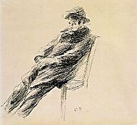 Portrait of Ludovic Rodo Pissarro, c.1892, pissarro