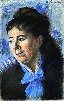 Portrait of Madame Felicie Vellay Estruc, c.1874, pissarro