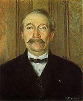 Portrait of Pere Papeille, Pontoise, c.1874, pissarro