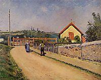 The Railroad Crossing at Les Patis, c.1874, pissarro