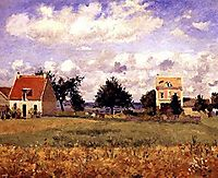 The Red House, 1873, pissarro