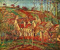Red Roofs, Corner of a Village, Winter, 1877, pissarro