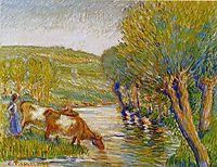 The river and willows, Eragny, 1888, pissarro