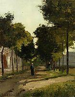 The road, c.1870, pissarro
