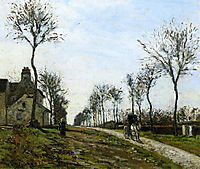 Road to Louveciennes, pissarro