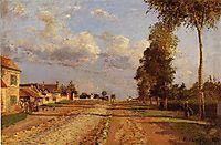 Road to Racquencourt, 1871, pissarro