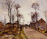 The Road to Saint Cyr at Louveciennes, pissarro