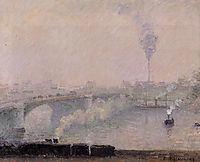 Rouen, Fog Effect, 1898, pissarro