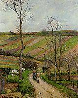 Route du Fond in Hermitage, Pontoise, 1877, pissarro