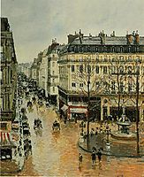 Rue Saint Honore, Afternoon, Rain Effect, 1897, pissarro