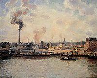 The Saint Sever Quay, Rouen, 1896, pissarro