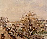 The Seine at Paris, Pont Royal, 1903, pissarro