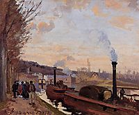 The Seine at Port Marly, pissarro