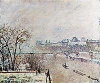 The Seine Viewed from the Pont Neuf, Winter, 1902, pissarro