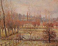 Snow Effect at Eragny, 1894, pissarro