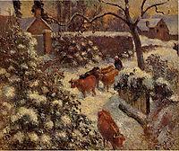 Snow Effect in Montfoucault, 1882, pissarro