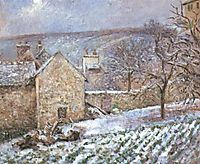 Snow at the Hermitage, Pontoise, 1874, pissarro