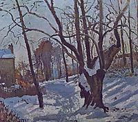Snow at Louveciennes, 1872, pissarro
