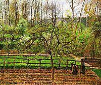 Spring, Gray Weather, Eragny, 1895, pissarro