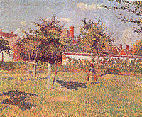 Spring sunshine in the meadow at Eragny, 1887, pissarro