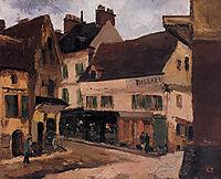 A Square in La Roche Guyon, c.1867, pissarro