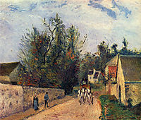 The Stage on the Road from Ennery to l-Hermigate, Pontoise, pissarro