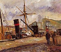 Steamboats, 1883, pissarro