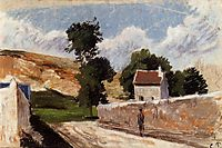 A Street in l-Hermitage, Pontoise, c.1874, pissarro