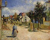 A Street in Pontoise, 1879, pissarro