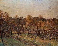 Sunset at Eragny, 1902, pissarro