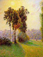Sunset at Sent Charlez. Eragny, 1891, pissarro