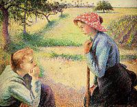 The talk, 1892, pissarro