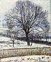 The Thaw, Eragny, 1893, pissarro