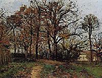 Trees on a Hill, Autumn, Landscape in Louveciennes, 1872, pissarro