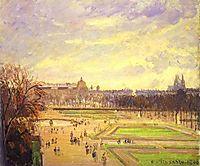 The Tuileries Gardens 2, 1900, pissarro